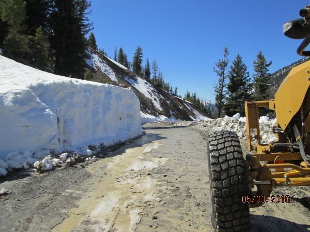 Snow Bank on Road