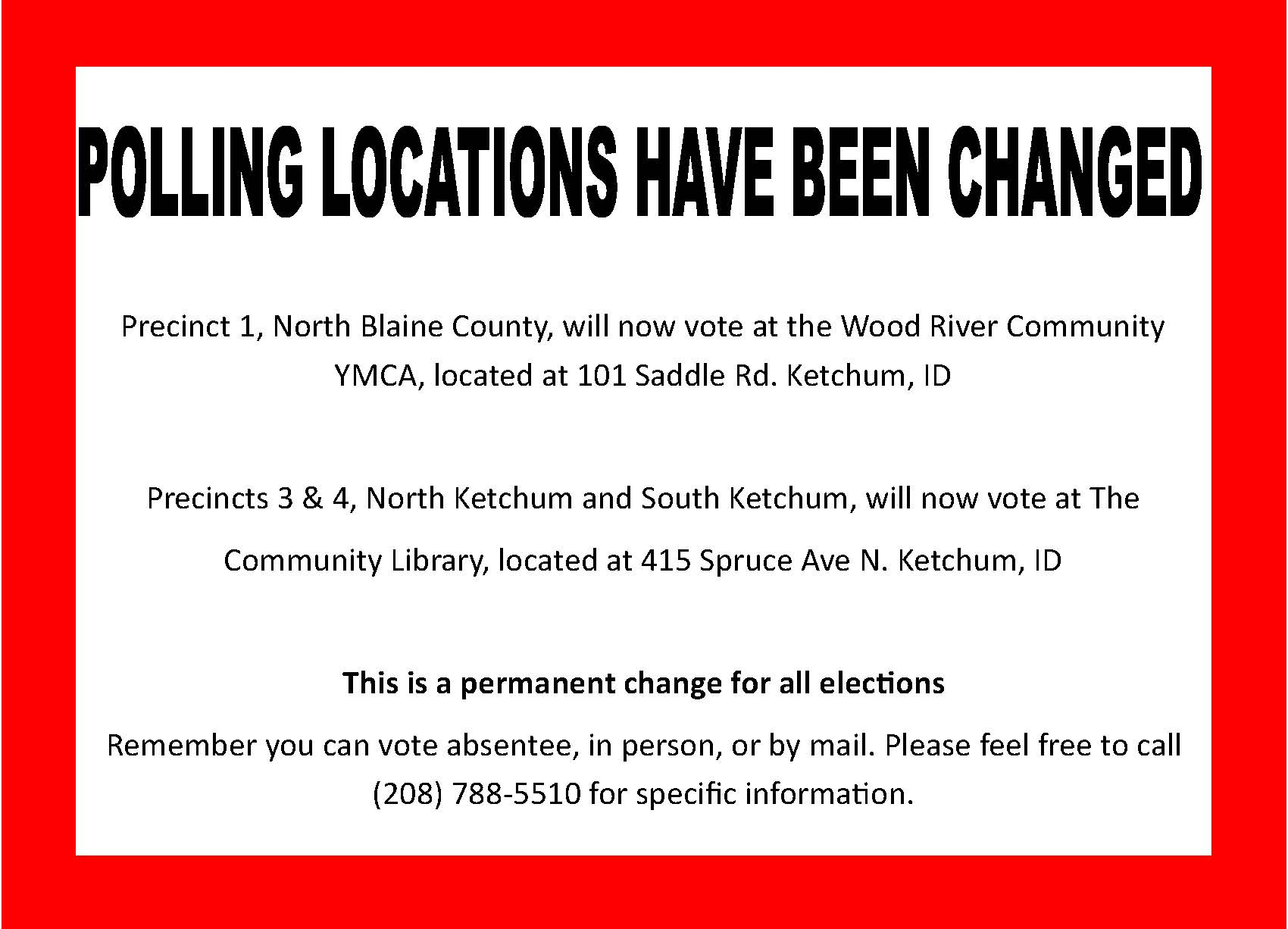 Polling location changes